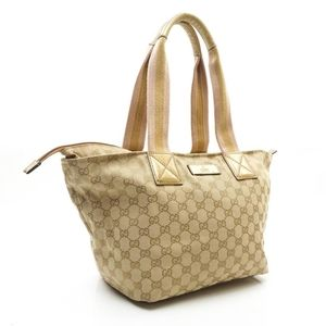 Gucci gg canvas sherry web gold pink Tote bag